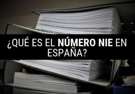 qué es el número nie en España?