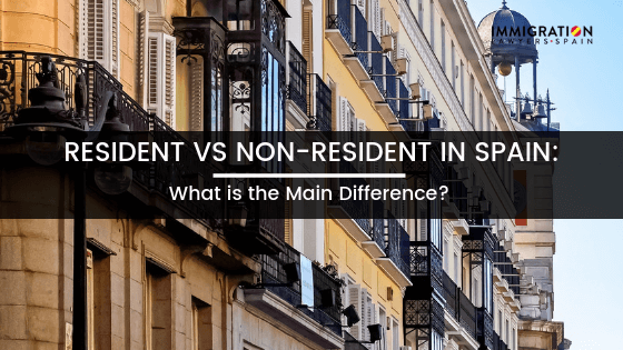 difference between resident and non-resident in Spain