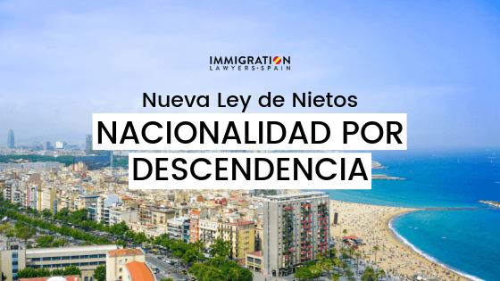 nacionalidad española por descendencia