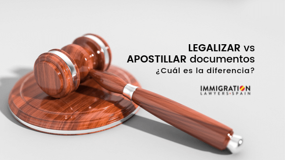 diferencia entre legalizar y apostillar documentos en España
