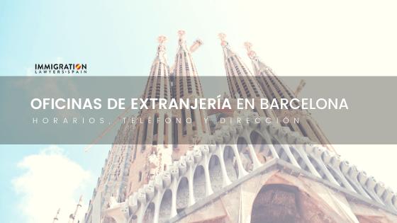 oficinas de extranjeria en barcelona