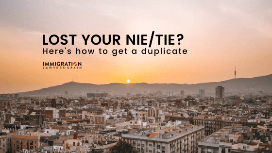 how to get a duplicate of NIE