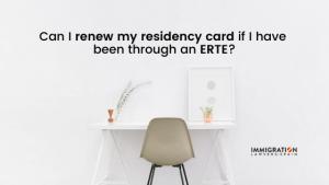 renew residency card after erte