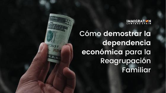 dependencia económica reagrupación