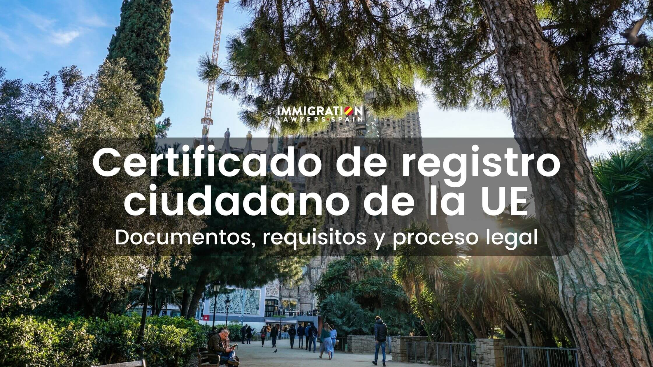certificado de registro de la Unión Europea