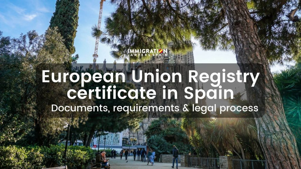 EU registry certificate in Spain