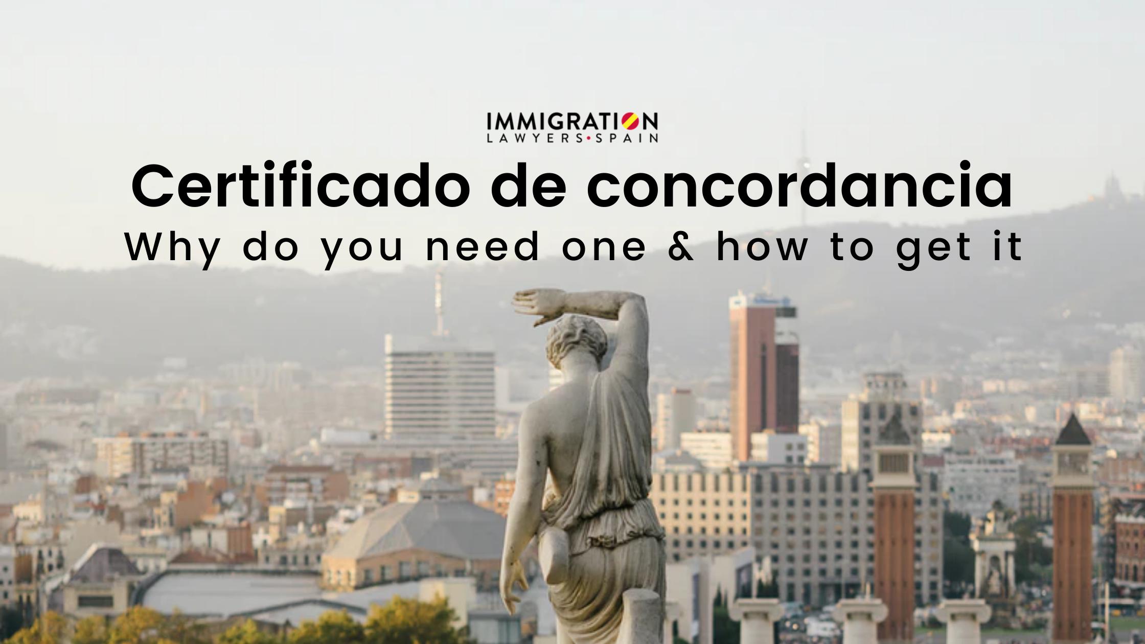 concordancia certificate in Spain