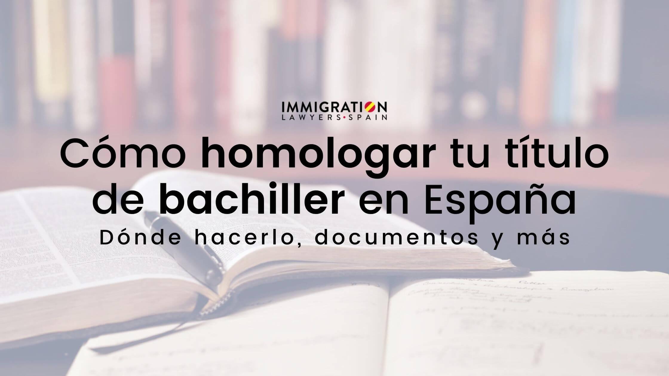 homologar título bachillerato España