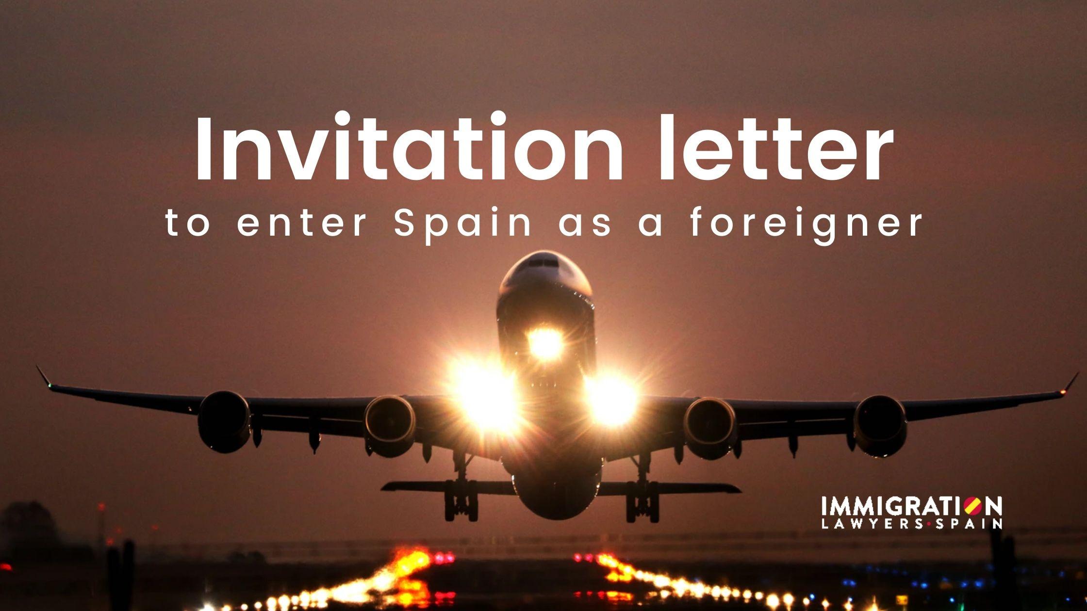 invitation letter Spain