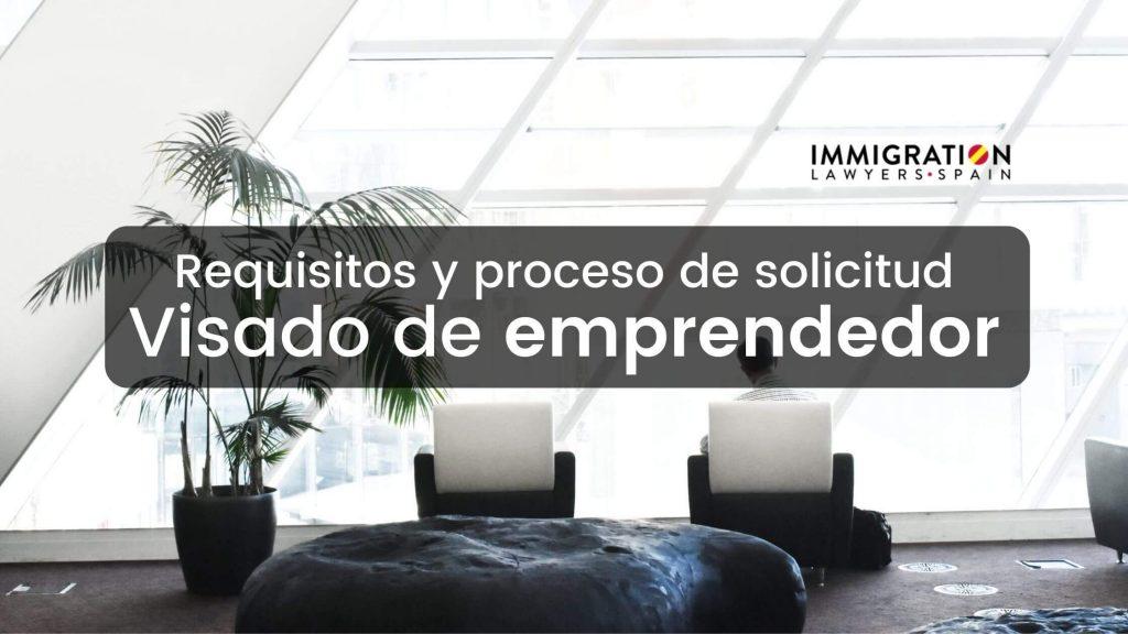 visado de emprendedor en España