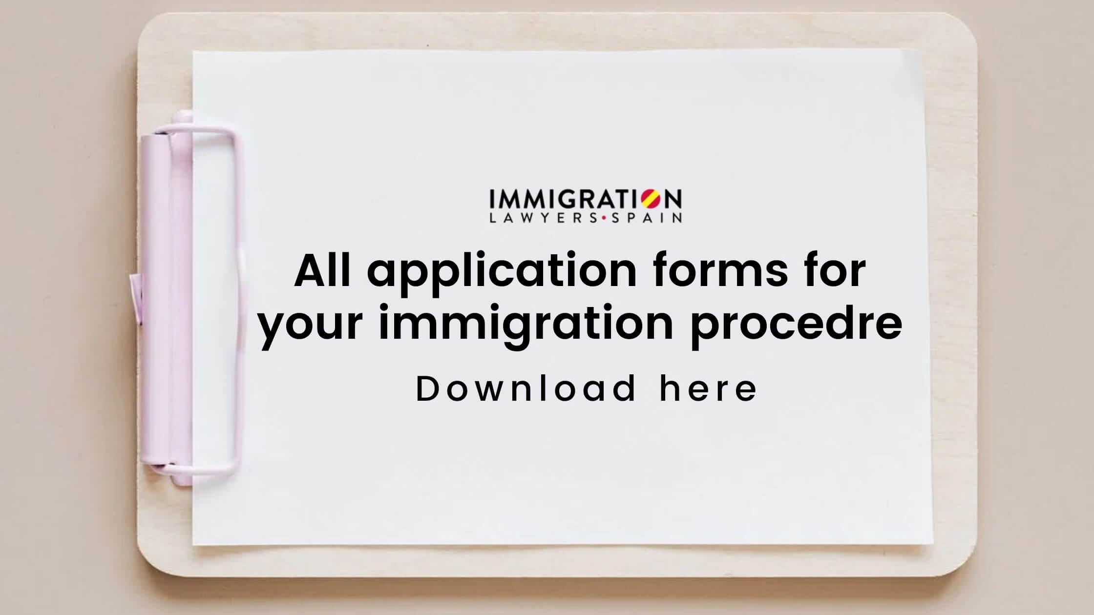 immigration application forms in Spain