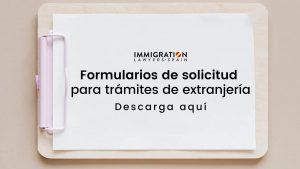 modelos de solicitud extranjería