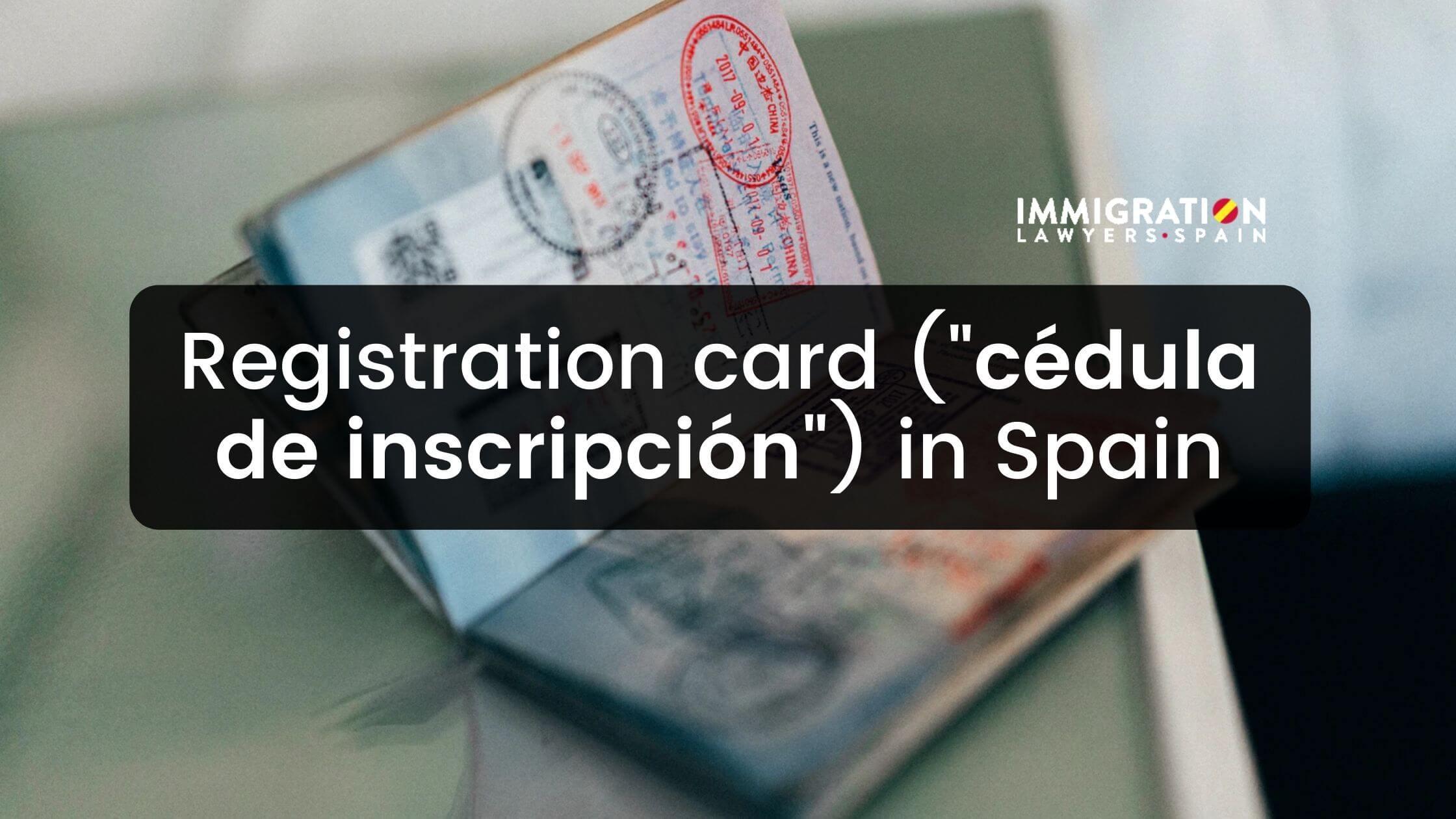 cédula inscripción for undocumented immigrants