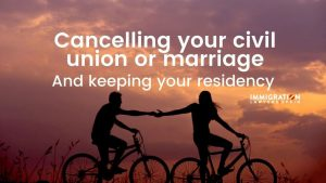 can you lose residency if you divorce?