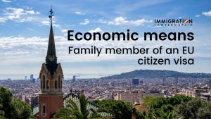 economic requirements for the family member of an EU citizen visa