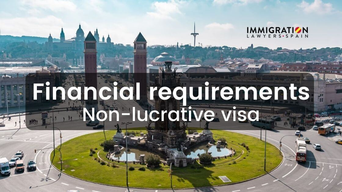 financial requirements for the non-lucrative visa